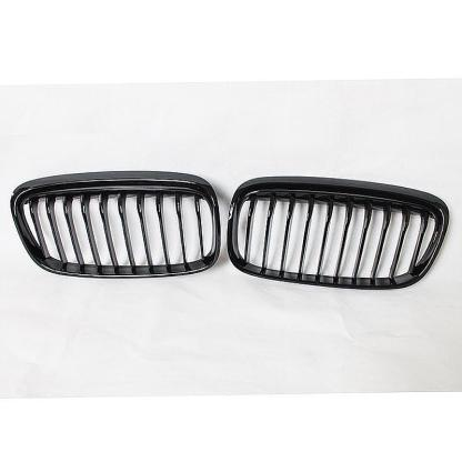 Pair Gloss Black Sport Grille Grill For BMW F45 2-Series Wagon Touring 2014-18