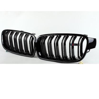 Pair Gloss Black Front Kidney Grille For BMW F30 F31 F35 3-SERIES Sedan 12-16 GS