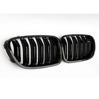 For 10-16 BMW 5 Series F10/F11 M5 550i 535i Kidney Grill Gloss Black Dual Slats