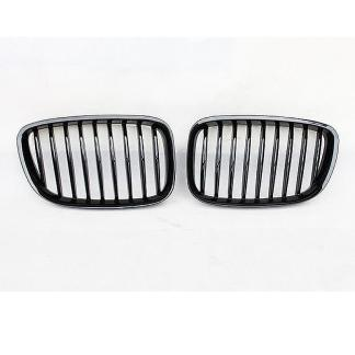 Kidney Front Mesh Grille For 2012+ BMW F07 GT 535iGT 550iGT Gloss Black