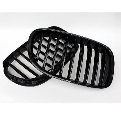Gloss Black Kidney Front Mesh Grille For BMW 7 Series F02 F01 2009 - 2012