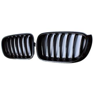 For BMW X3 F25 15-on X4 F26 14-on Gloss Black Left & Right Front Kidney Grille