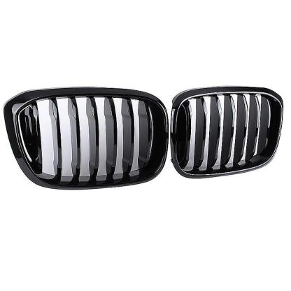 AutoTecknic Gloss Black Front Grille Fits 18+ BMW G01 X3 | G02 X4