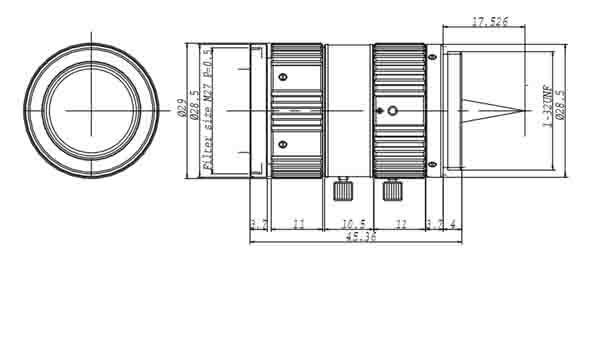 Computar M5028-MPV 3 MegaPixel HD Industrial Lens 50MM