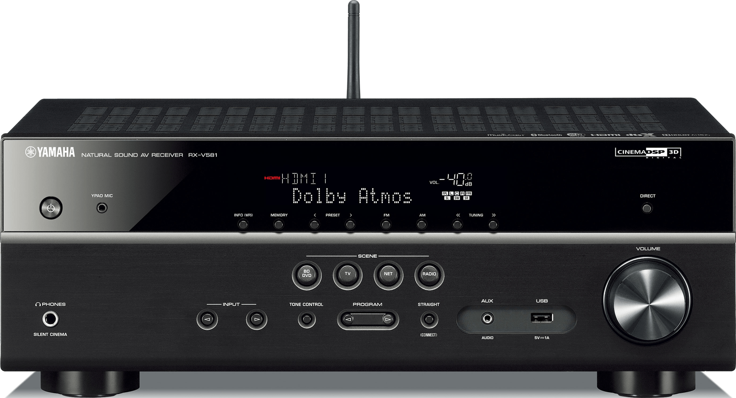 YAMAHA RX-V581 7.2-Ch x 80 Watts Networking A/V Receiver | Accessories4less