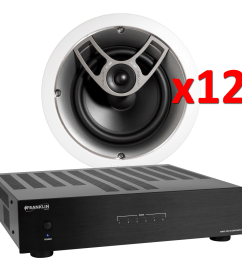 franklin audio a4012 6 zone amplified package w 12 polk ic60 inceiling speakers accessories4less [ 1500 x 1500 Pixel ]