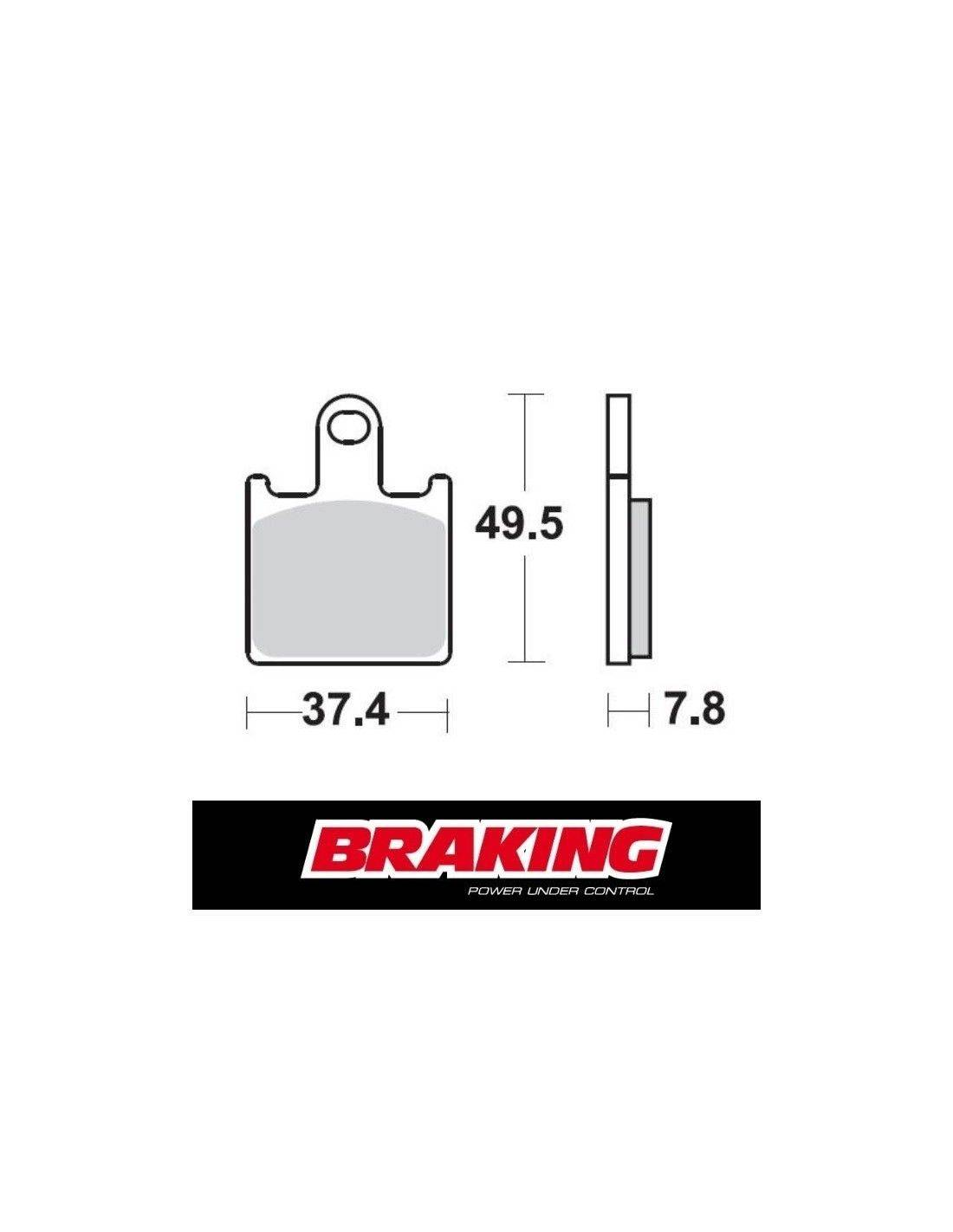 Braking P1R racing brake pads Kawasaki ZZR 1400 ABS 2006-2017