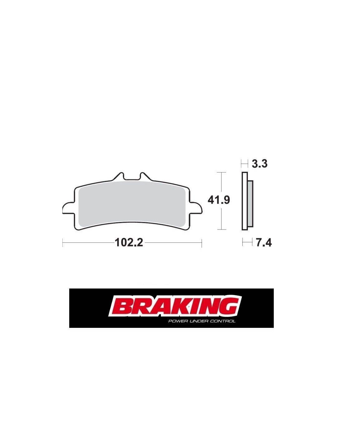 Braking P1R racing brake pads Husqvarna Nuda 900 R ABS 2013