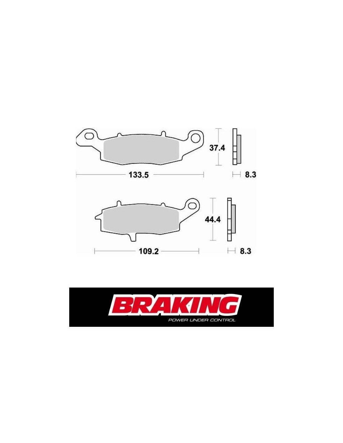 Braking motorcycles brake pads Suzuki VL 800 LC Intruder