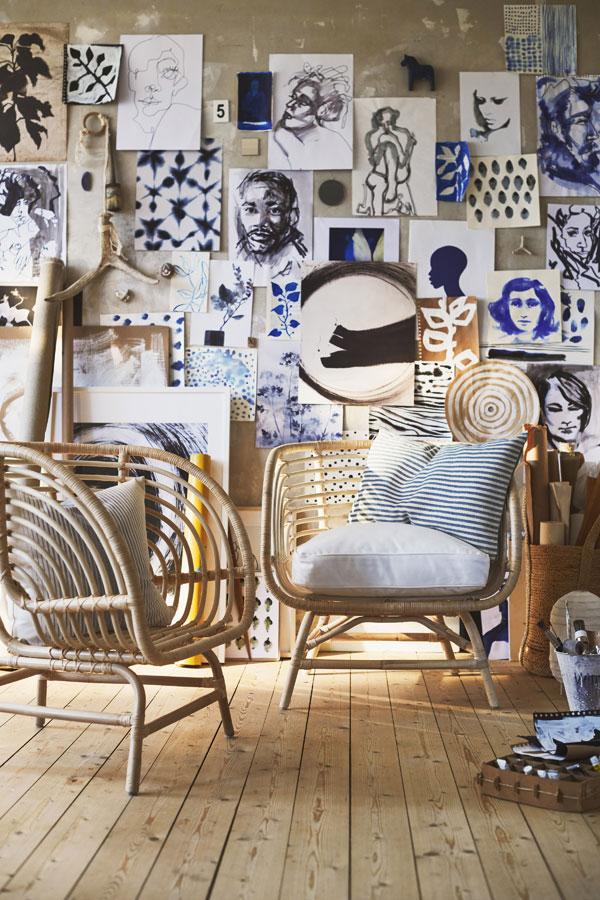 Rotan stoel BUSKO van IKEA - via Accessorize your Home