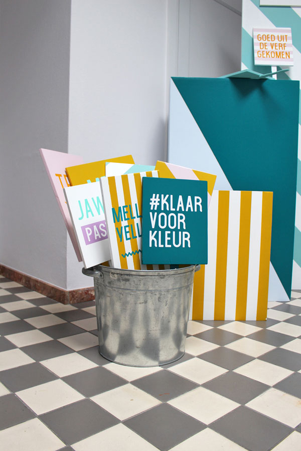 "De ""klaar voor kleur"" photobooth op de Flexa Bloggersdag - via Accessorize your Home"