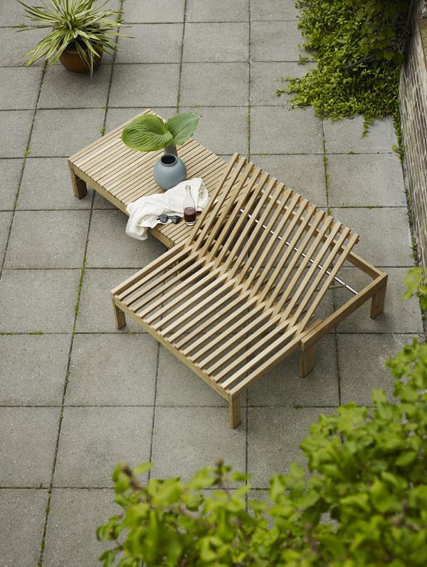 Riviera loungebank van teak van Skagerak - via Accessorize your Home