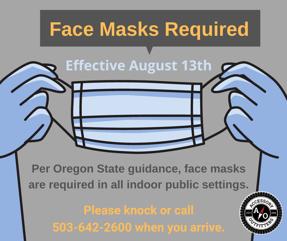 face masks optional at accessory outfitters