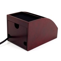 nightstand charger organizer spacesaver wooden charging ...