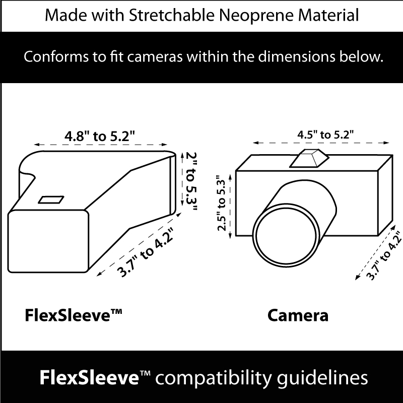 DuraNeoprene dSLR FlexArmor Sleeve Case for Nikon , Canon
