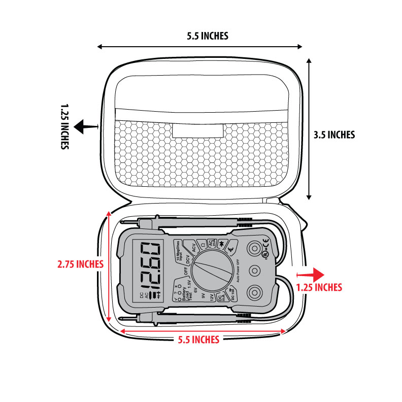 Protective Case for Innova 3320 Digital Multimeter with