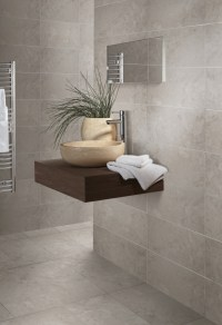 British Ceramic Tile Limestone Grey Multi Use Wall & Floor ...