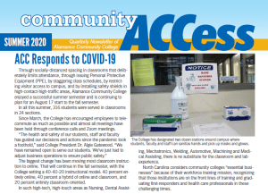 summer 2020 community ACCess newsletter