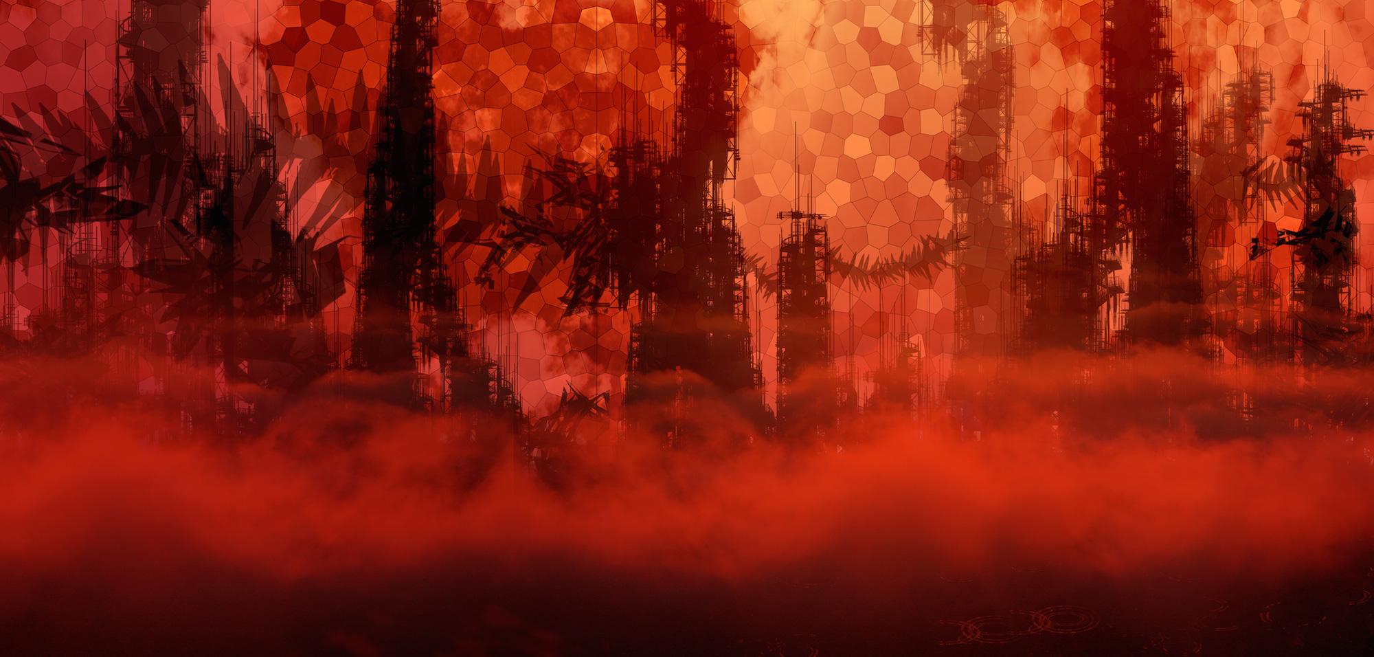 Acchiappasogni_Cielo_Cremisi_Background