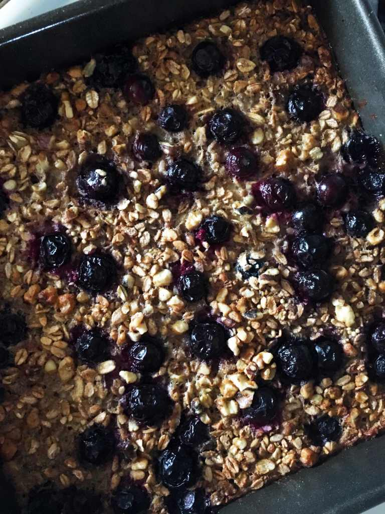 Ancient Grains Blueberry Banana Baked Oatmeal by Accidental Artisan