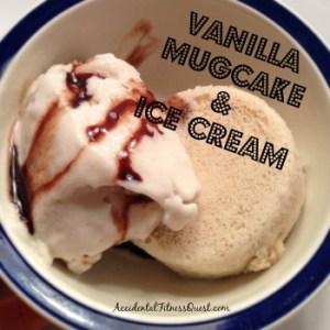 Vanilla Mugcake and Ice Cream