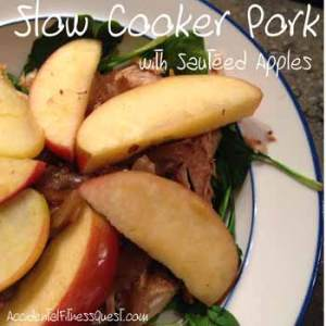 Slow Cooker Pork with Sauteed Apples