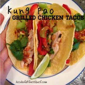 Kung Pao Grilled Chicken Tacos
