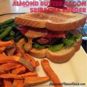 Almond Butter Bacon Sriracha Burger