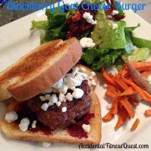 Blackberry Goat Cheese Burger