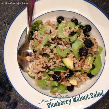 Ancient Grain Blueberry Walnut Salad