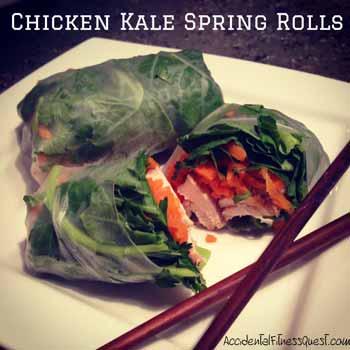 Chicken Kale Spring Rolls