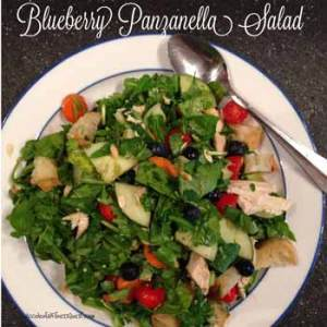 Blueberry Panzanella Salad