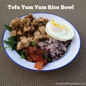 Tofu Yum Yum Rice Bowl