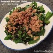 Roasted Broccoli Salad with Tahini Dressing