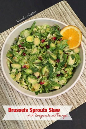 Brussels Sprouts Slaw with Pomegranate and Oranges
