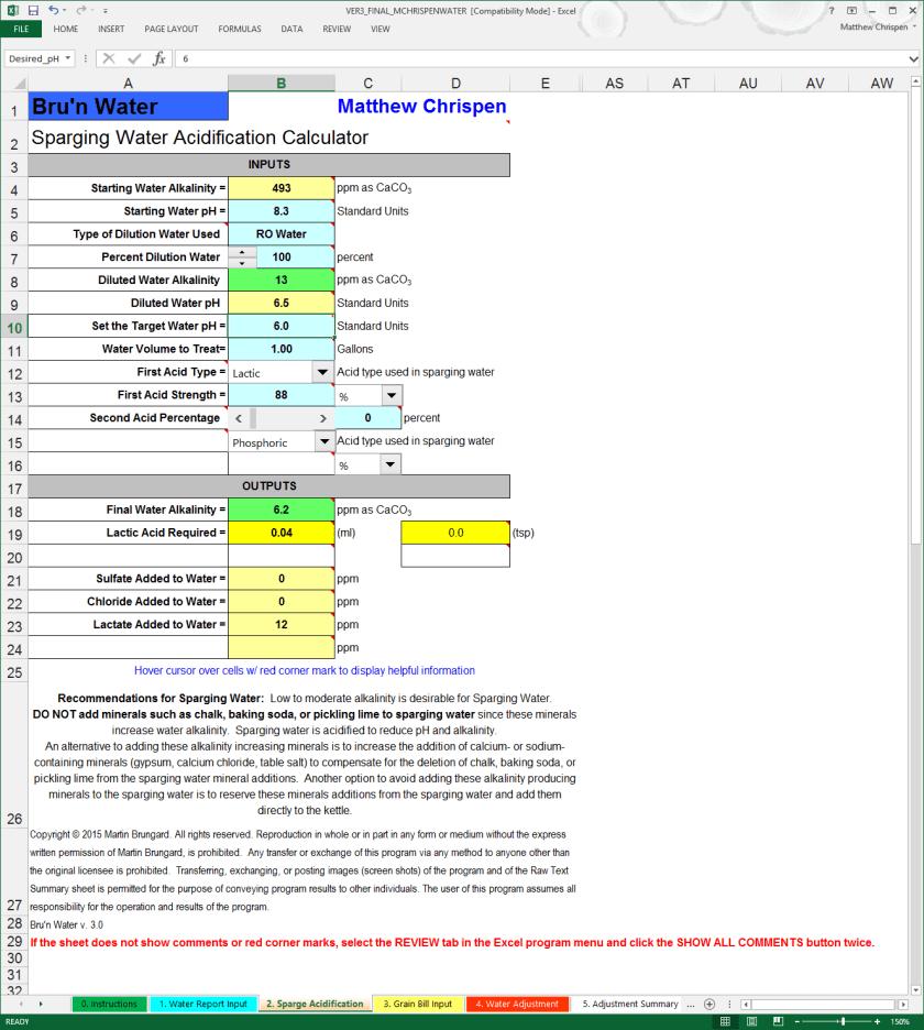 BWS 3.0 Sparge Acidification