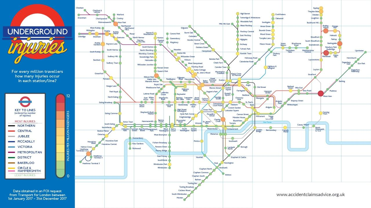 London Underground Accident Map