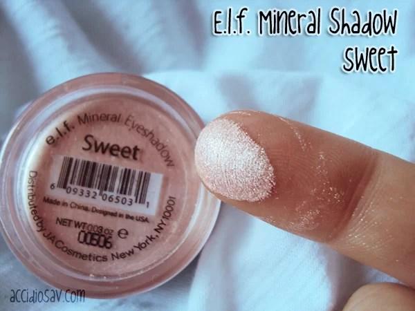 elf mineral sweet - ombretto minerale - recensione
