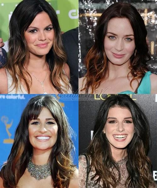 Ombre Hair Highlitghst - Rachel Bilson, Emily Blunt, Shenae Grimes, Lea Michele