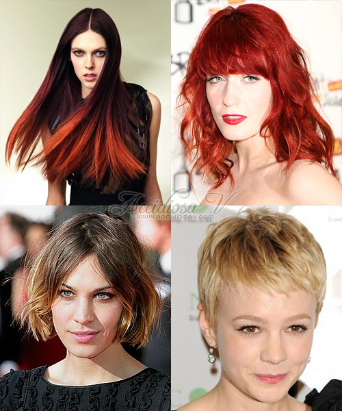 Ombre Hair: Redhead and Short Hair - model, Florence Welch, Carey Mulligan, Alexa Chung