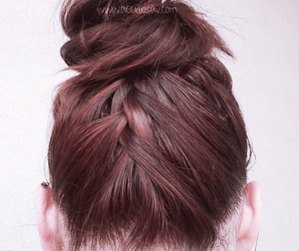 The Upside Down French-Braided Chignon - Tutorial - www.accidiosav.com