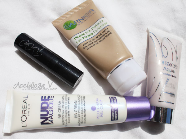 BB Cream Showdown: L'Oreal Nude Magique, Murad Skin Perfecting Primer, Garnier Miracle Skin Perfector, Dermo28 Aqua Blemish Balm - Photo © www.accidiosav.com