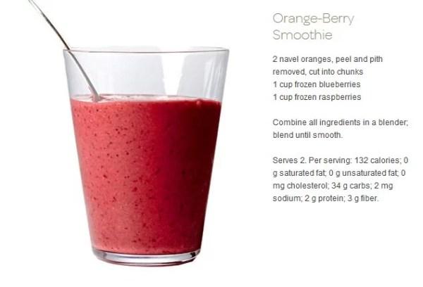 7 Detox Smoothies Recipes: orange berrie