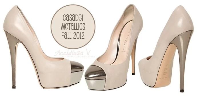 Casadei Fall 2012 Peplum Collection: metallics