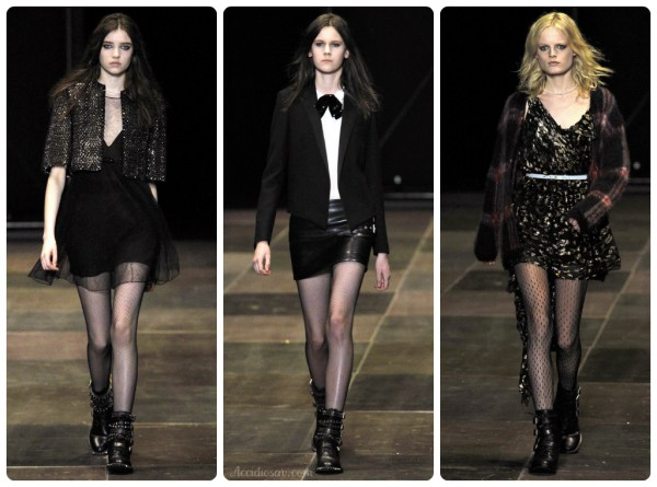 Saint Laurent RTW Fall 2013 - Biker Boots Looks
