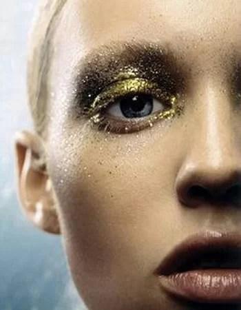 Makeup per capodanno nude e oro glitter