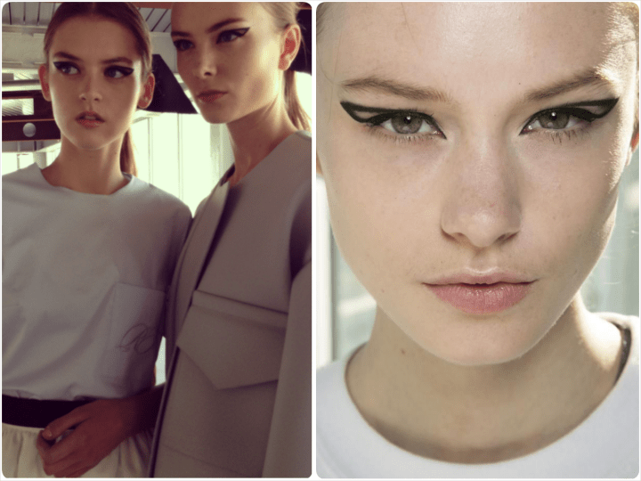 Cat Eye Geometrico - Roksanda Ilincic - Trend Makeup Primavera Estate 2014 | AccidiosaV