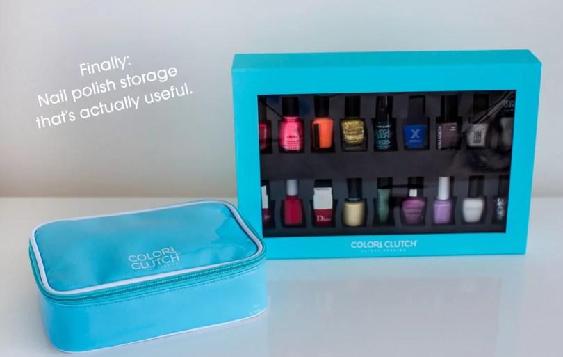 color clutch - la scatola per organizzare smalti di ogni forma