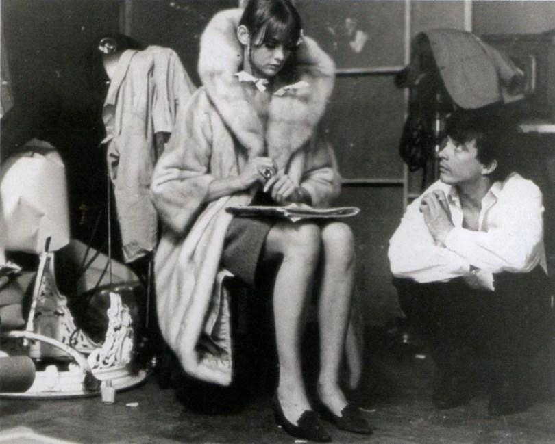 Jean Shrimpton e David Bailey, in una pausa durante un servizio fotografico per Vogue