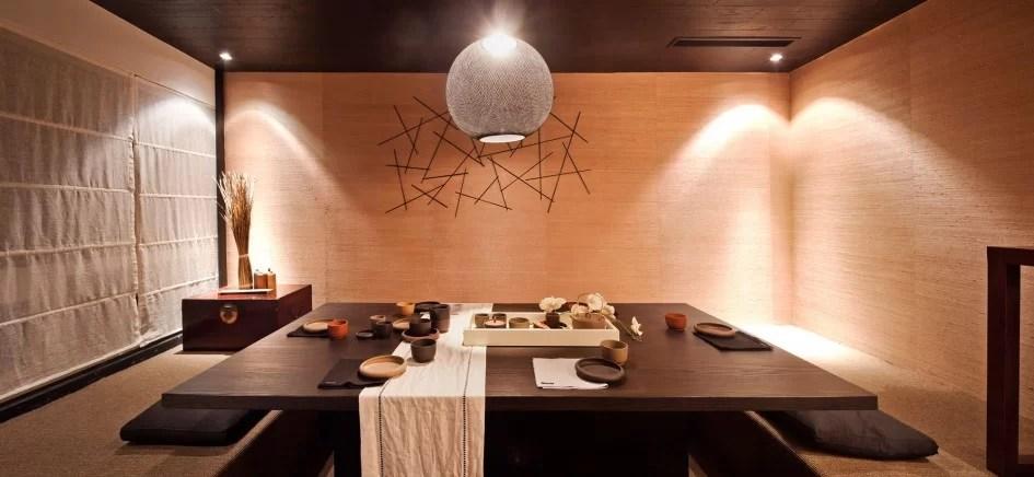 come arredare la sala da pranzo di design in stile giapponese